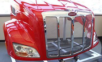 Molded plastic composite Class 8 truck hood