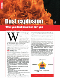 dust explosion article