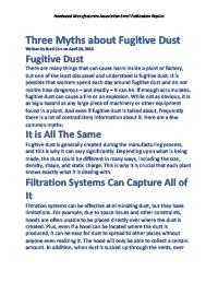 Three Myths about Fugitive Dust