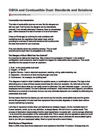 powder bulk solids Combustible Dust article