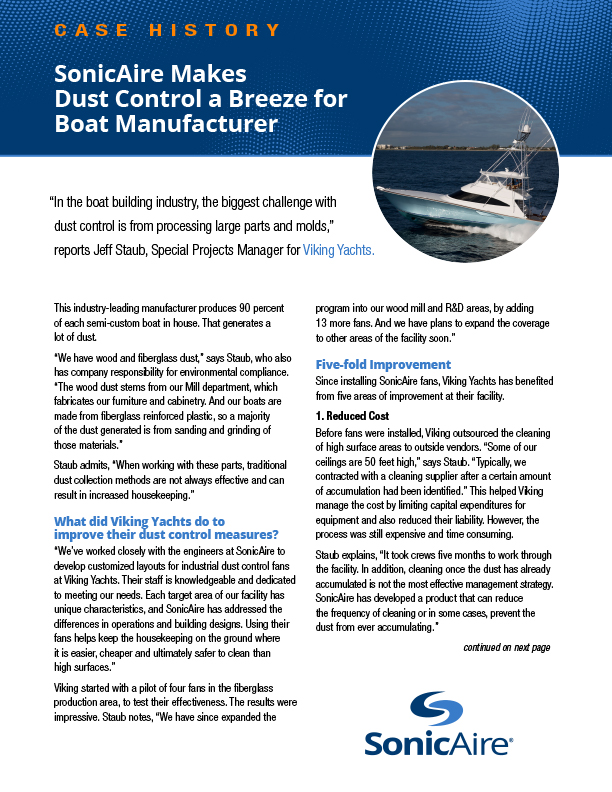 boat building case study sonicaire