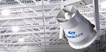 SonicAire Dust Control Fan