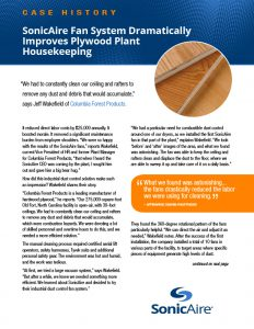 preventing combustible dust in plywood production case study